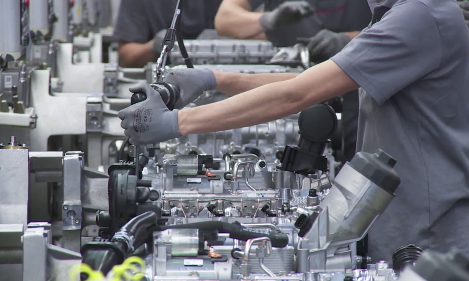 Porsche 911 Engine Assembly Line in Germany