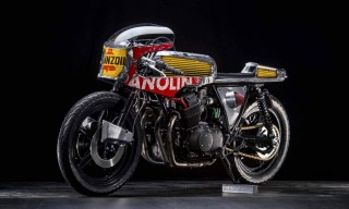 Italy's Vibrazioni Art Design Customize the Honda CB750 with Pennzoil Oil Barrels