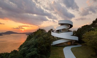 The Spiraling Ribbon Chapel in Hiroshima, Japan