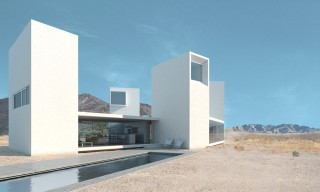 """The """"Four Eyes House"""" with Stunning Views of the Coachella Desert"""
