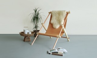 "Simple Leather & Wood ""Ovis"" Chairs by Ladies & Gentlemen Studio"