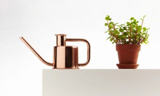 "Paul Loebach Designs the Solid Metal ""x3 Watering Can"" for Kontextür"