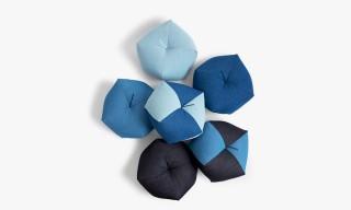 Denim Ojami Cushions by Nalata Nalata & Takaokaya