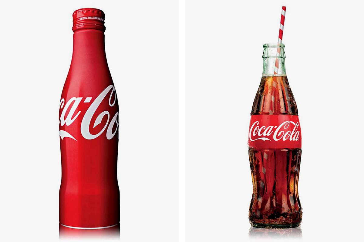 Old Fashion Cartoon Coke Bottle