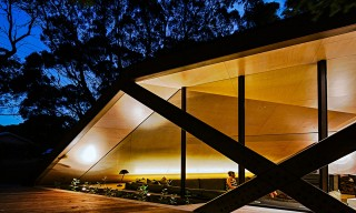 An Angular Contemporary Cabin in Australia's Moonah Woodland
