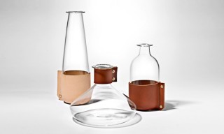 Leather Glassware, Lighting & Furniture by London's Simon Hasan