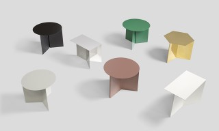 "Origami in Metal Form with HAY's Colorful ""Slit"" Side Table Series"
