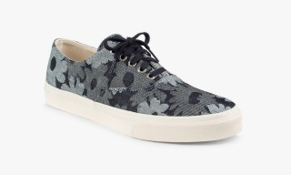 Japanese Jacquard Denim Sperry Top-Siders for Velour by Nostalgi