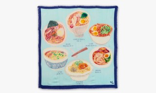 CJW's Illustrated Scarves Riff on Ramen, Milk Bars and More