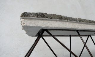 "Raw & Primitive Concrete ""Calcarenite"" Furniture by Cosma Frascina"