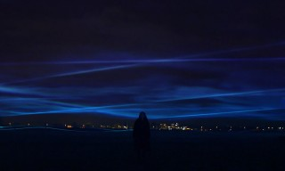 "Watch the Incredible ""Waterlicht"" LED Light Wave Installation in Amsterdam"