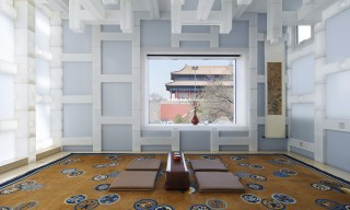 A Beijing Members-Only Tea House Built From Plastic Blocks