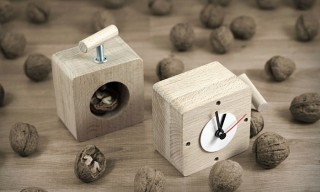 "Playful & Affordable ""Industrial Vice"" Clocks by Poland's Poorex"