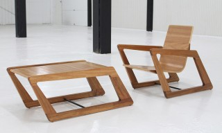 The Angular Chair and Table Set from Cummins Design Studio