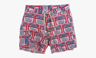 "Mister Freedom ""Aventure"" Beach Trunks Made From Vintage Fabrics"