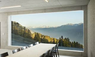 Take Shelter in this Modernist Swiss Community Cabin with Mountain Views