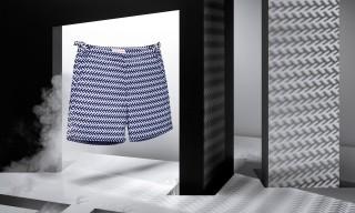 Orlebar Brown Swimwear Applies Marcello Morandini's Bold Graphics