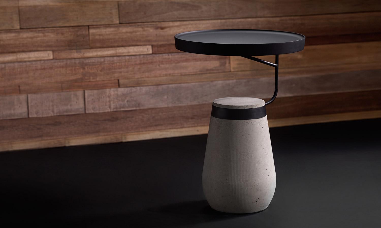 Ponti Design Kanban Side Table Selectism - Industrial concrete side table